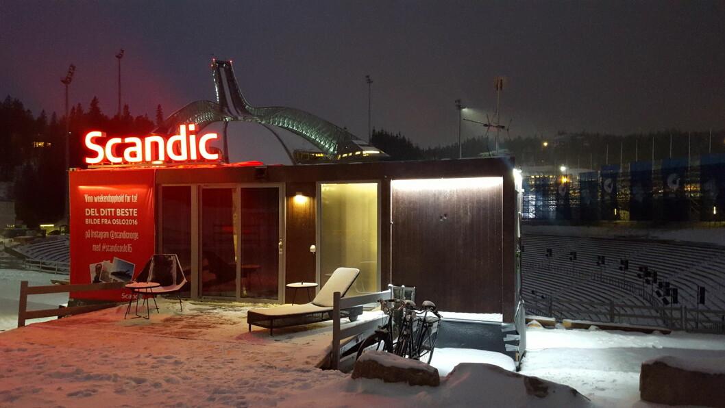 Scandic To Go på plass i Holmenkollen.