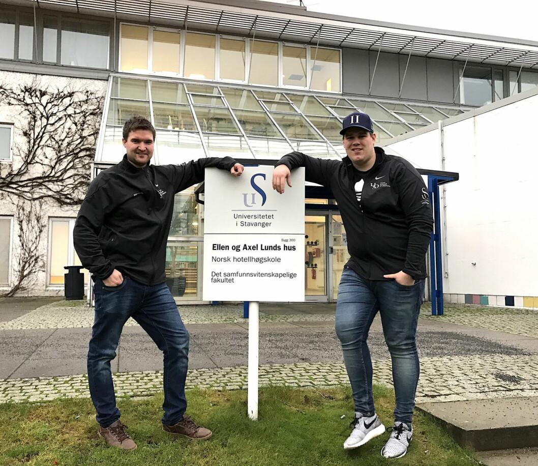 Kim Roger Andersen og Bjørn T. Pedersen. (Foto: NHS)