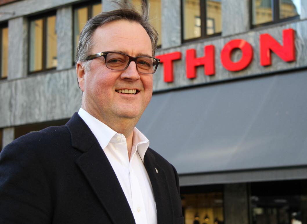 Morten Thorvaldsen har ledet Thon Hotels (tidligere Rainbow Hotels) i 38 år, siden 1989. (Foto: Morten Holt)