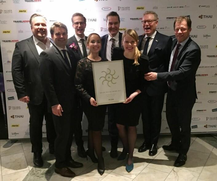 Rezidor, som er representert med Radisson Blu og Park Inn by Radisson i Norge, ble kåret til beste internasjonale hotellkjede for tiende året på rad.
