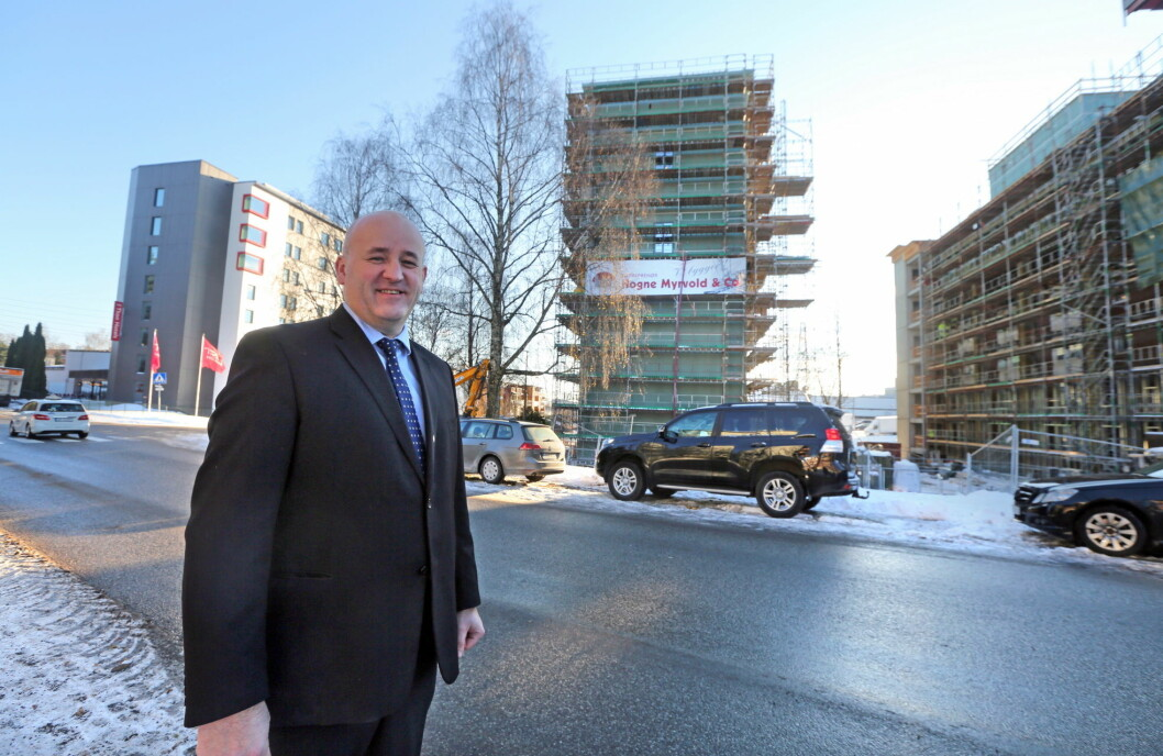 Thon Hotel Linne i Oslo vokser kraftig. Her hotelldirektør Are Gald.