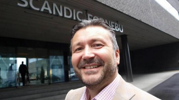 Det var en fornøyd administrerende direktør i Scandic Norge, Svein Arild Steen-Mevold, som i dag kunne bekjentgjøre at fem sentrale hoteller i Norge nå blir tilknyttet Scandic Hotels. (Foto: Odd Henrik Vanebo, arkiv)