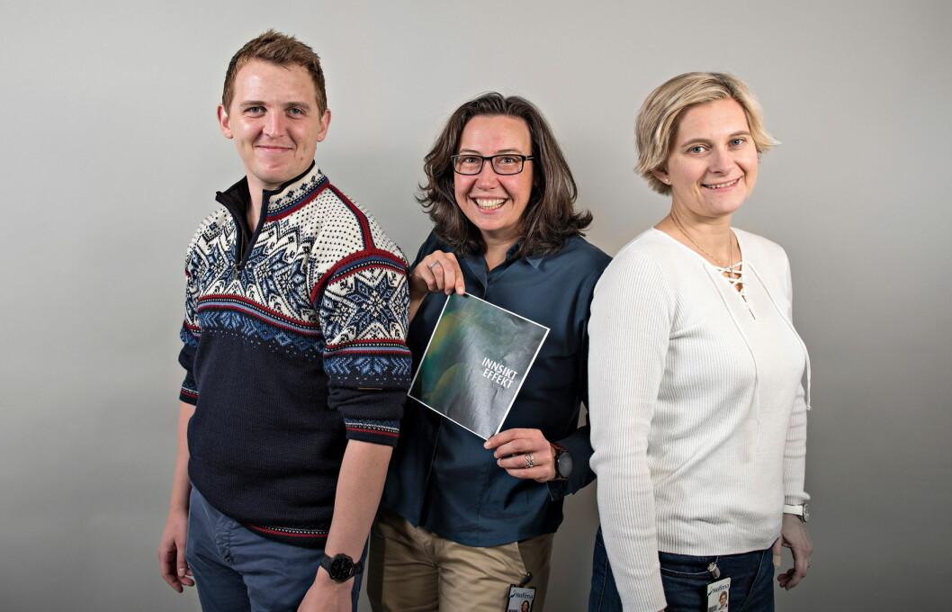 Kasper Christensen, Antje Gonera og Stine Alm Hersleth har sammen med blant annet Einar Risvik skrevet boken for og om innovasjon i norsk matproduksjon. (Foto: Jørn Are Berg-Jacobsen/Nofima)