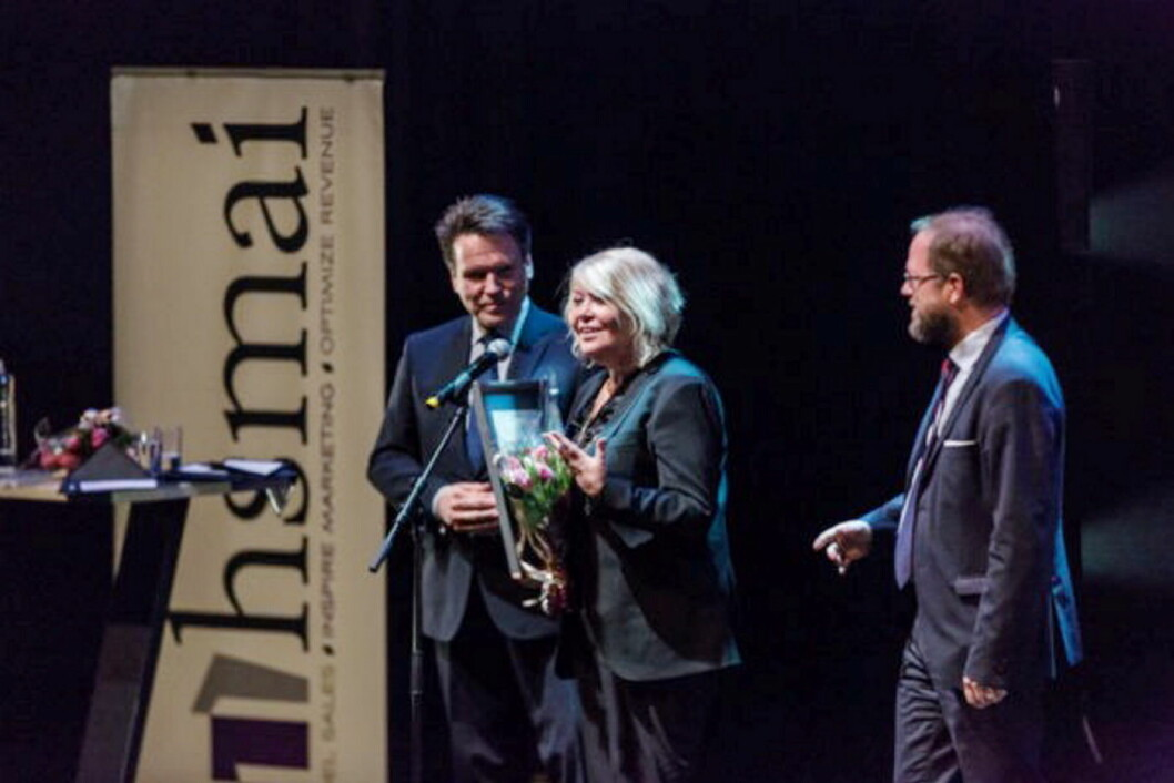 Ingunn Hofseth fikk HSMAIs ærespris. (Foto: HSMAI)
