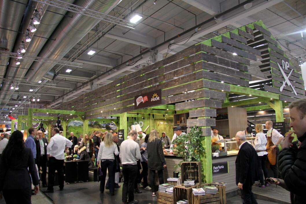 Nortura Proffs grønne låve er kåret til Smak 2017s beste stand. (Foto: Morten Holt)