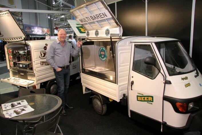 Tore Knudsen melder om stor interesse for MC Temas stand. Han selger vogner tilpasset streetfood-trenden. Du kan lese mer i neste utgave av magasinet Horeca. (Foto: Morten Holt)