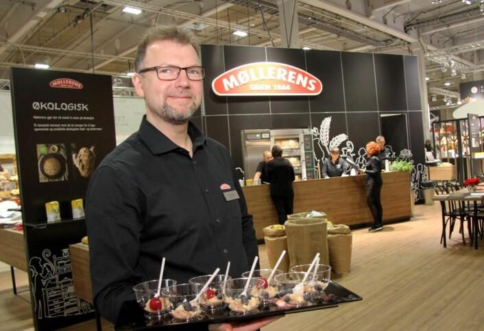 Bakermester Stig Arne Ekker på Møllerens stand på Smak 2017. (Foto: Morten Holt)