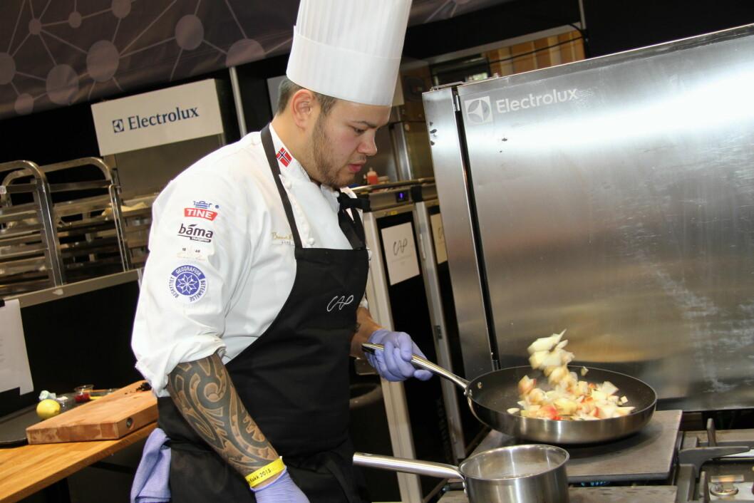 Christian A. Pettersen er hittil den eneste norske kokken som har deltatt i finalen av S. Pellegrino Young Chef. Han tok sølv i 2015. (Foto: Morten Holt)