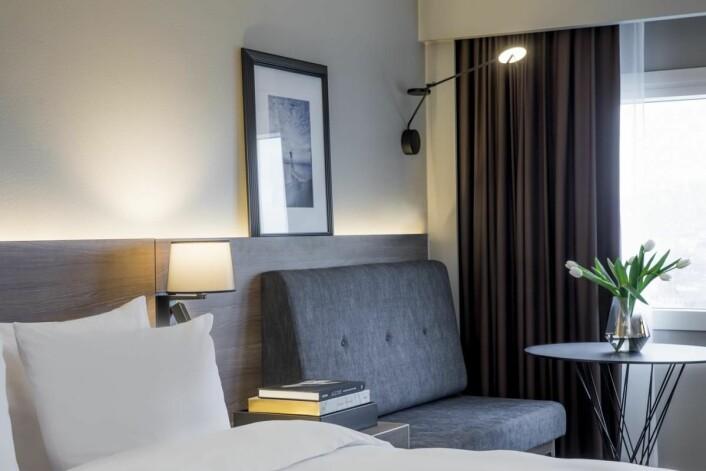 Alle de 676 hotellrommene, i 37 etasjer, pusses opp av Link Arkitektur. (Foto: Rickard L. Eriksson)