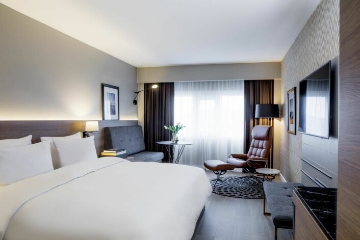 De første nyrenoverte rommene hos Radisson Blu Plaza Hotel i Oslo er allerede ferdige. (Foto: Rickard L. Eriksson)