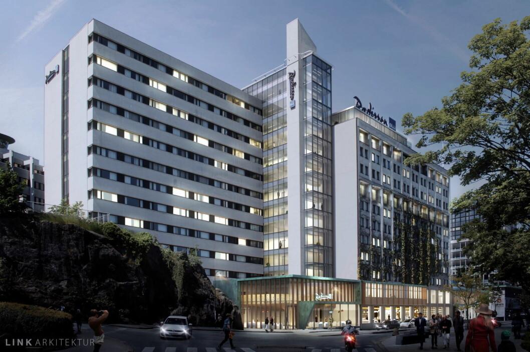 Slik blir nye Radisson Blu Atlantic Hotel i Stavanger, som reåpnes i november 2017.