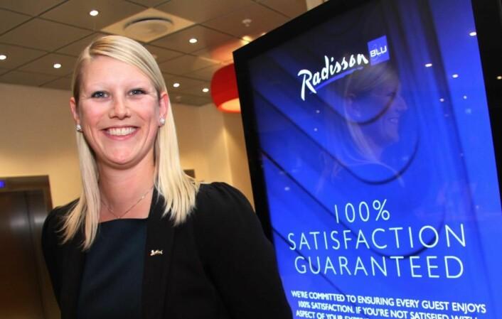 <em>Helene Hallre fra Oslo har gjort kometkarriere i Radisson Blu. Nå er hun hotellsjef på Radisson Blu Royal Hotel i København. (Foto: Morten Holt)</em>