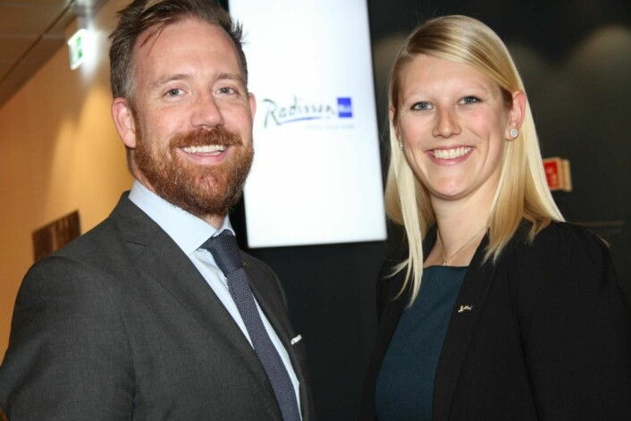 Kristoffer Solstad og Helene Hallre. (Foto: Morten Holt)
