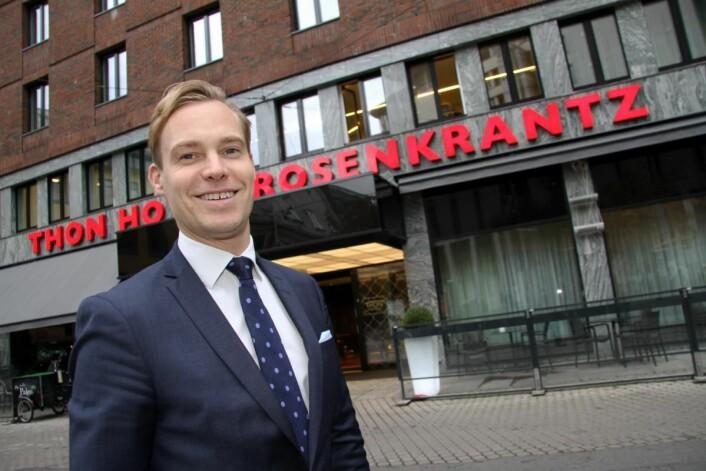 Lars Petter Mathisen er hotelldirektør på Thon Hotel Rosenkrantz, tidligere Thon Hotel Stefan. (Foto: Morten Holt)