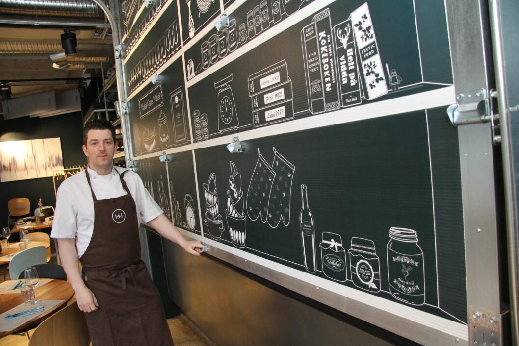 Gunnar Jensen er kjøkkensjef for Mathallen i Tromsø. (Foto: Morten Holt)