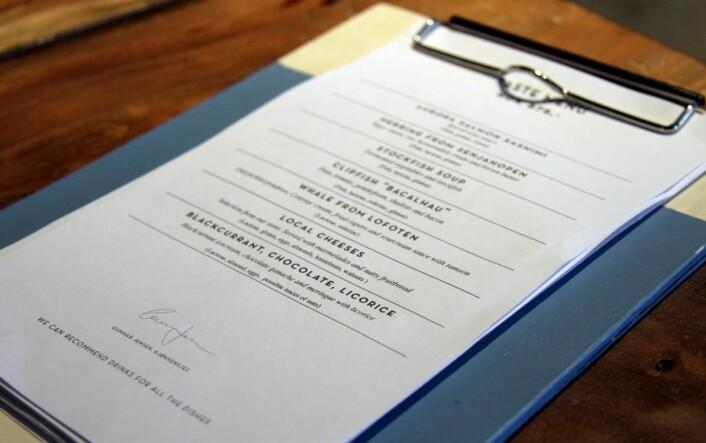 Enkle menyer, som gir mulighet til å bytte meny hver eneste dag. (Foto: Morten Holt)