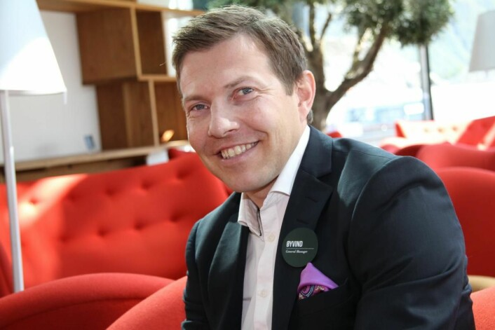 Omsetningsmålet for 2022 ble nådd allerede i 2016, forteller hotelldirektør Øyvind Alapnes. (Foto: Morten Holt)