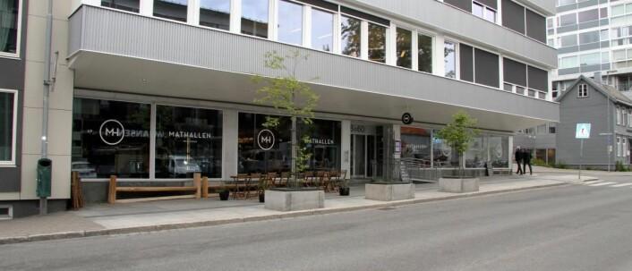 Mathallen ligger i Tromsø sentrum. (Foto: Morten Holt)