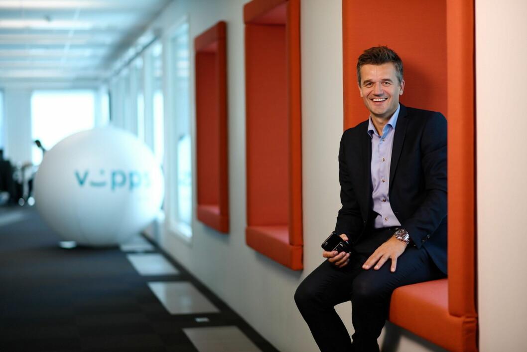 – Det blir spennende å se om hotellgjestene til Thon Hotels omfavner Vipps, sier Rune Garborg, konserndirektør for DNB Vipps og Betaling. (Foto: Stig B. Fiksdal)