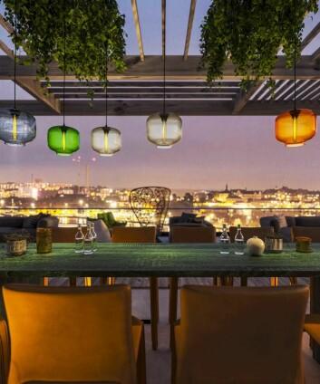 Utsikten fra restauranten Tak. (Foto: Nordic Choice Hotels)
