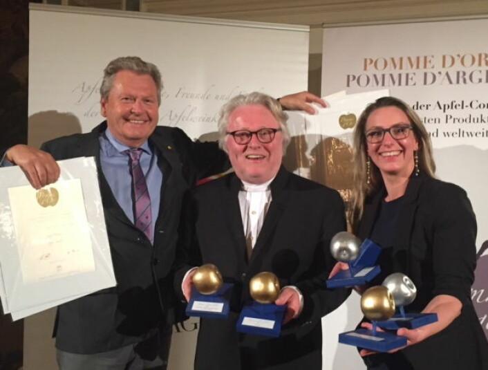 Fra utdelingen av prisen i Tyskland. (Foto: Egge Gård)