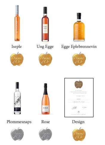 Medaljeproduktene til Egge Gård på «Apfelwein Weltweit».