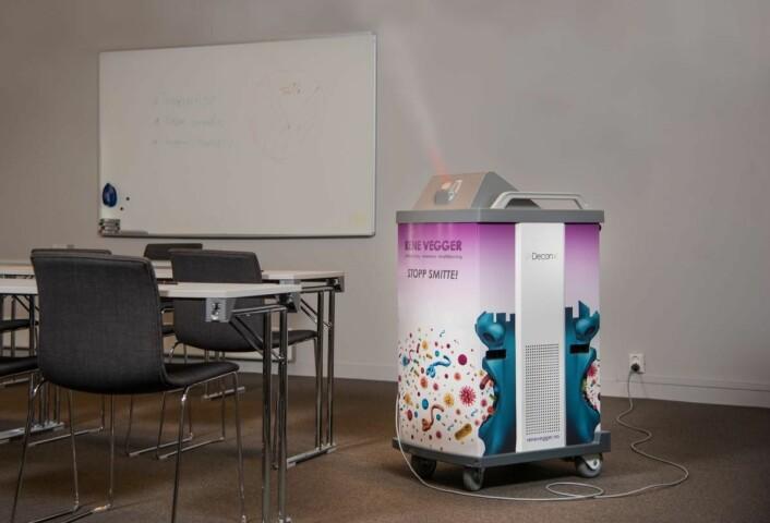Behandlingen renser også luften og forbedrer inneklimaet, nyttig i konferanseavdelingen. (Foto: Peder Klingwall/Vizpro)