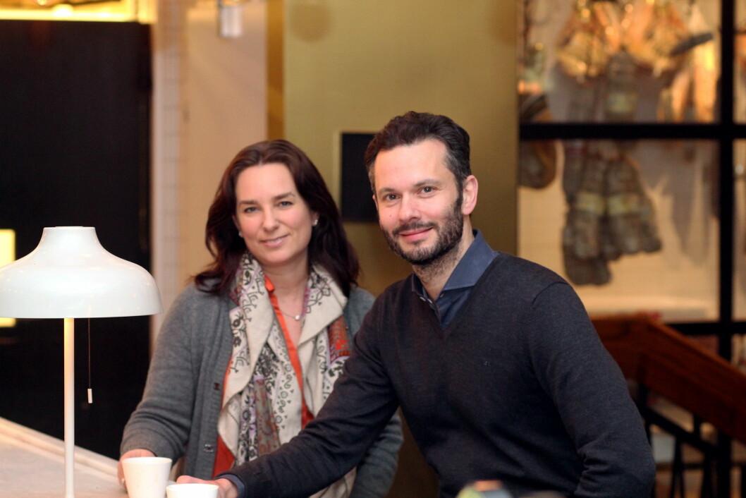 Michael Minirvini, som driver Minervinis restaurantvirksomhet,  har fått prisen «Årets handelsbedrift» i 2016 i Trondheim. Her sammen med kona Miriam Klein Minervini. (Foto: Kenneth Stoltz/Næringsforeningen i trondheimsregionen)