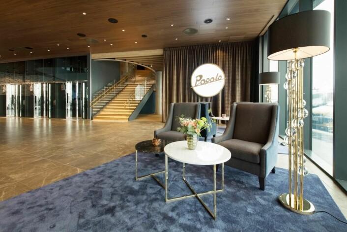 Fra lobby-området på det nye hotellet.