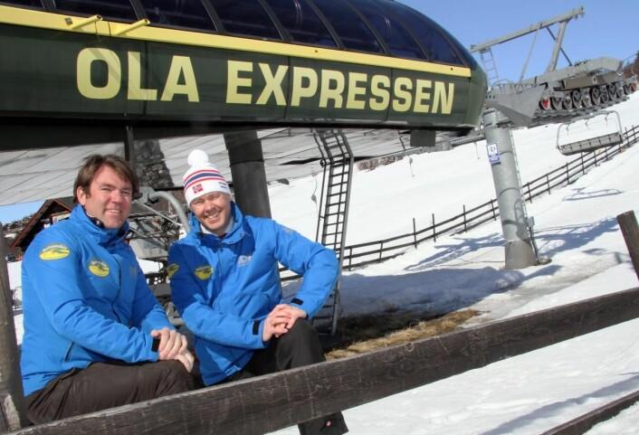 Bjørnar og Atle Hovi på Beitostølen. (Foto: Morten Holt)