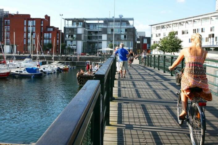 Malmö regnes som Sveriges mest sykkelvennlige by. (Foto: Oskar Falck)