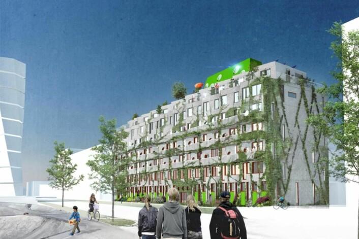 Sykkelhotellet Ohboy tilbyr 32 leiligheter.