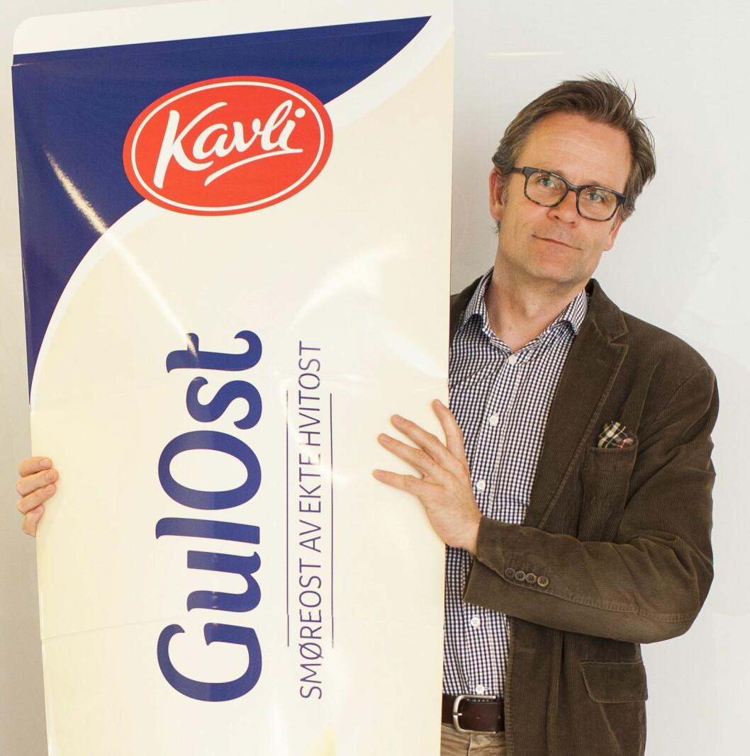Kavli er en av årets nykommere, og går til topps blant mat- og drikkeprodusentene. Det kan administrerende direktør Karl Johan Ingvaldsen være stolt av. (Foto: Kavli)