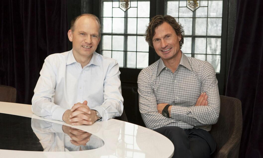 Torgeir Silseth (til venstre) sammen med Petter A. Stordalen. (Foto: Tord-Erik Andresen)