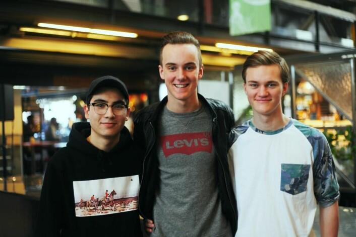 Lars Hamnes, Martin Bergvin og Vegard Brevik hentet inspirasjon fra profesjonelle kokker og servitører.