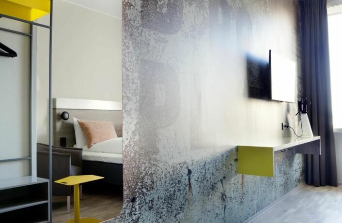Fra ett av de 304 rommene på det nye hotellet. (Foto: Inger Marie Grini)
