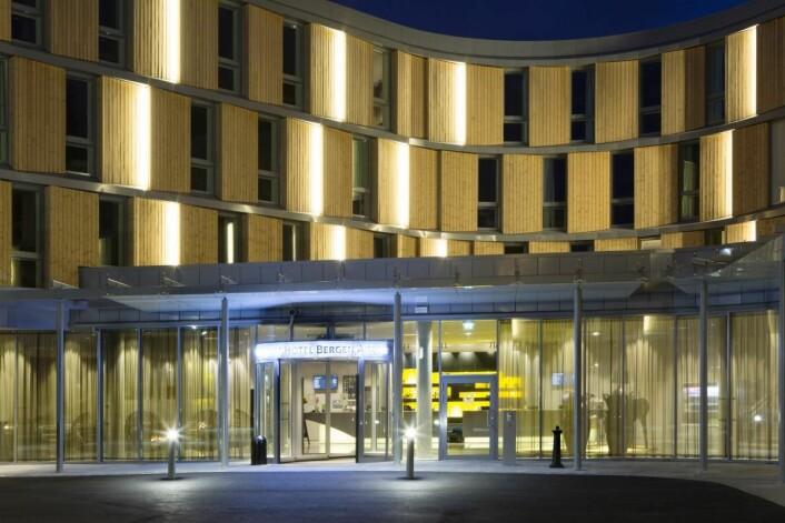 Comfort Hotel Bergen Airport er landets største Comfort-hotell. (Foto: Inger Marie Grini)