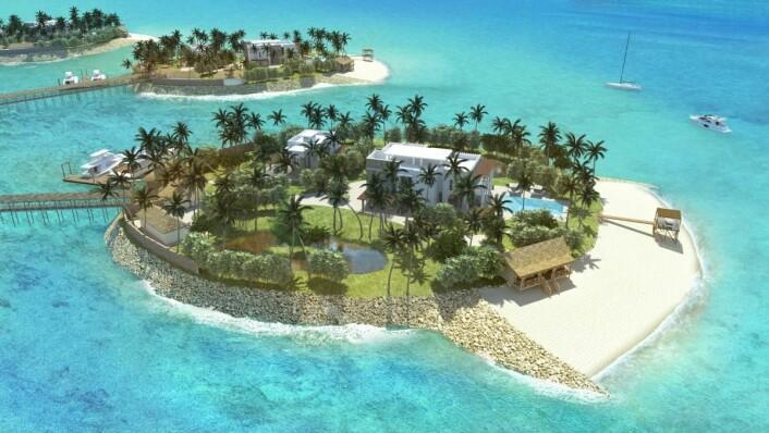Skisse av Zanzibar Amber Resort, som skal stå ferdig i 2020.
