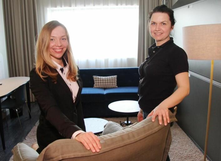 Ksenia Levy sammen med Monika Rojek. (Foto: Morten Holt)