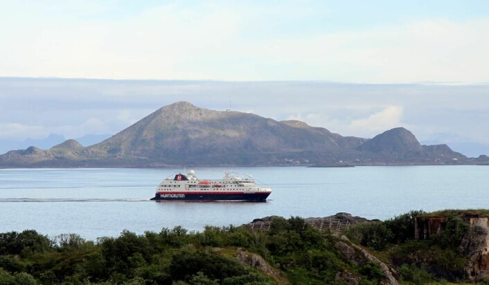 Hurtigruten på 13. plass. (Foto: Morten Holt)
