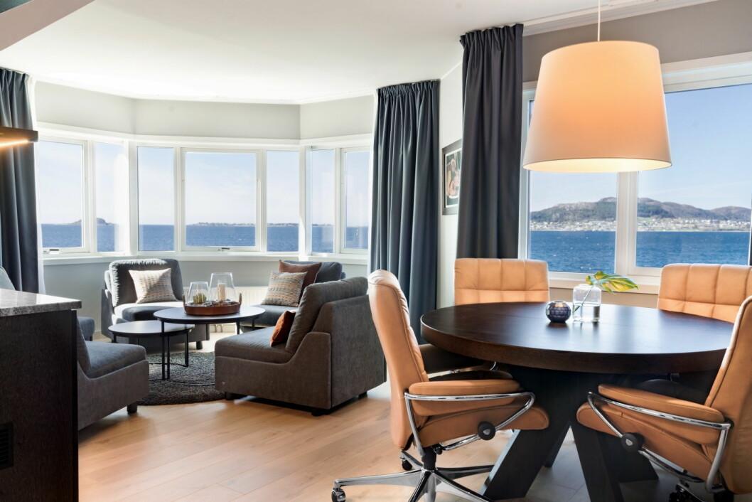 Fra en av de nyrenoverte suitene på Radisson Blu Hotel i Ålesund.