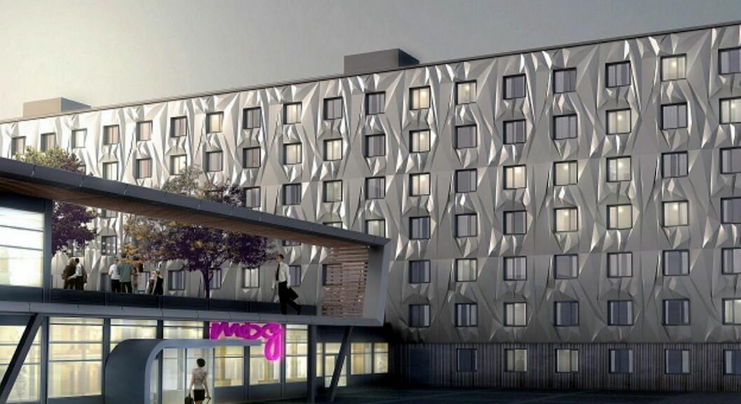 Slik blir hotellet Moxy Hotel X, som åpner i august. Det skal ledes av Ellen Arnstad.