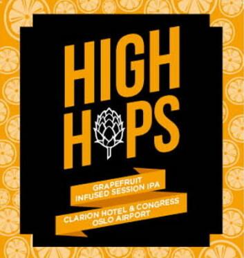 High Hops vil bli solgt i hotellets egen bar, The Living Room, samt i restauranten Clarion Classics.