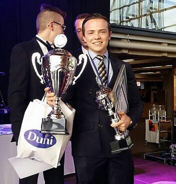 Gull til Mathias Toresen i Nordisk Mesterskap 2017 i Lahti. (Foto: NKL)