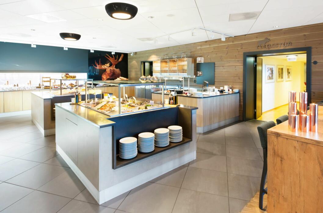 Frokostbuffeen på Scandic Elgstua, som er fylkesvinner i Hedmark. (Foto: Scanic Hotels)