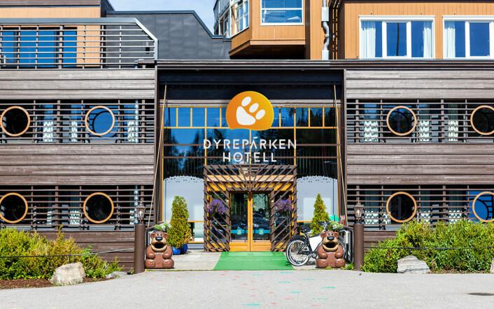 Frittstående Dyreparken Hotell er fylkesvinner i Vest-Agder. (Foto: Dyreparken Hotell)