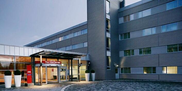 Thon Hotel Oslo Airport er fylkesvinner i Akershus i 2017. (Foto: Thon Hotels)