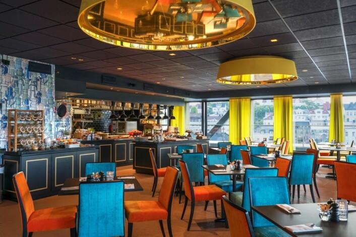Bare to fylkesvinnere mangler nå i frokostkåringen. De blir klare fredag. Her fra Thon Hotel Arendal. (Foto: Thon Hotel Arendal)
