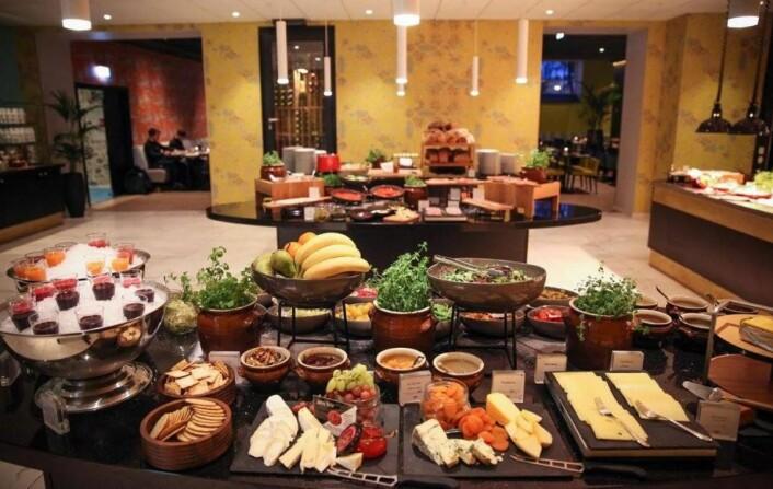 Thon Hotels Rosenkrantz Bergens frokost er med videre som wild card i Twinings Best Breakfast 2017. (Foto: Thon Hotels)