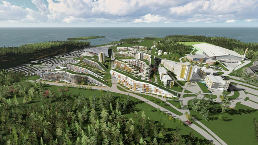 Oslofjord Convention Center. (Foto/illustrasjon: Niels Torp + arkitekter)